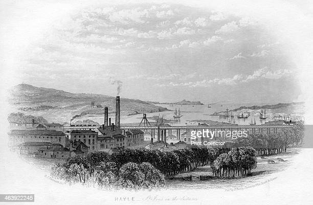 'Hayle St Ives in the distance' c1860 Scene on the West Cornwall Railway later part of the Great Western Railway The boom time for the harbour and...