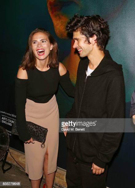 Hayley Atwell and cast member Ben Whishaw attend the press night after party for 'Against' at The Almeida Theatre on August 18 2017 in London England