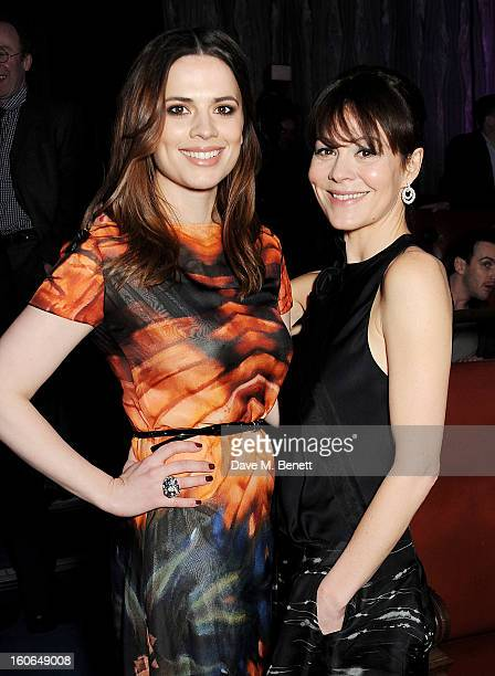 Hayley Atwell and Helen McCrory attend the London Evening Standard British Film Awards supported by Moet Chandon and Chopard at the London Film...