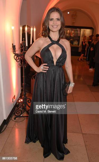 Hayley Atwell attends a cocktail reception at the 61st BFI London Film Festival Awards at Banqueting House on October 14 2017 in London England