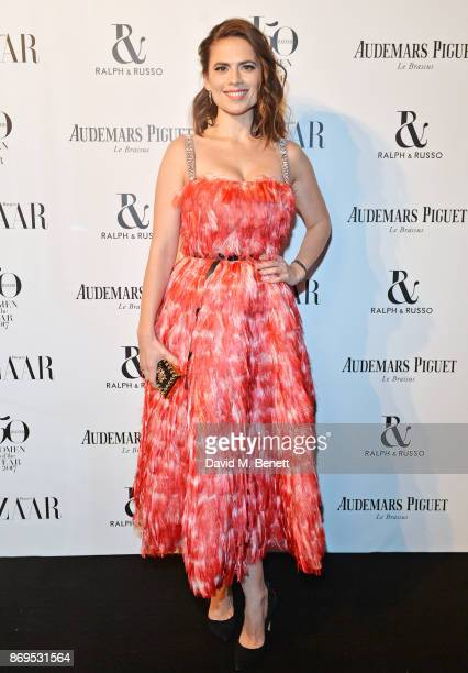 Hayley Atwell attends Harper's Bazaar Women of the Year Awards in association with Ralph Russo Audemars Piguet and MercedesBenz at Claridge's Hotel...