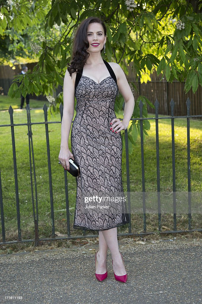 Hayley Atwell attends the annual Serpentine Gallery summer party at The Serpentine Gallery on June 26, 2013 in London, England.