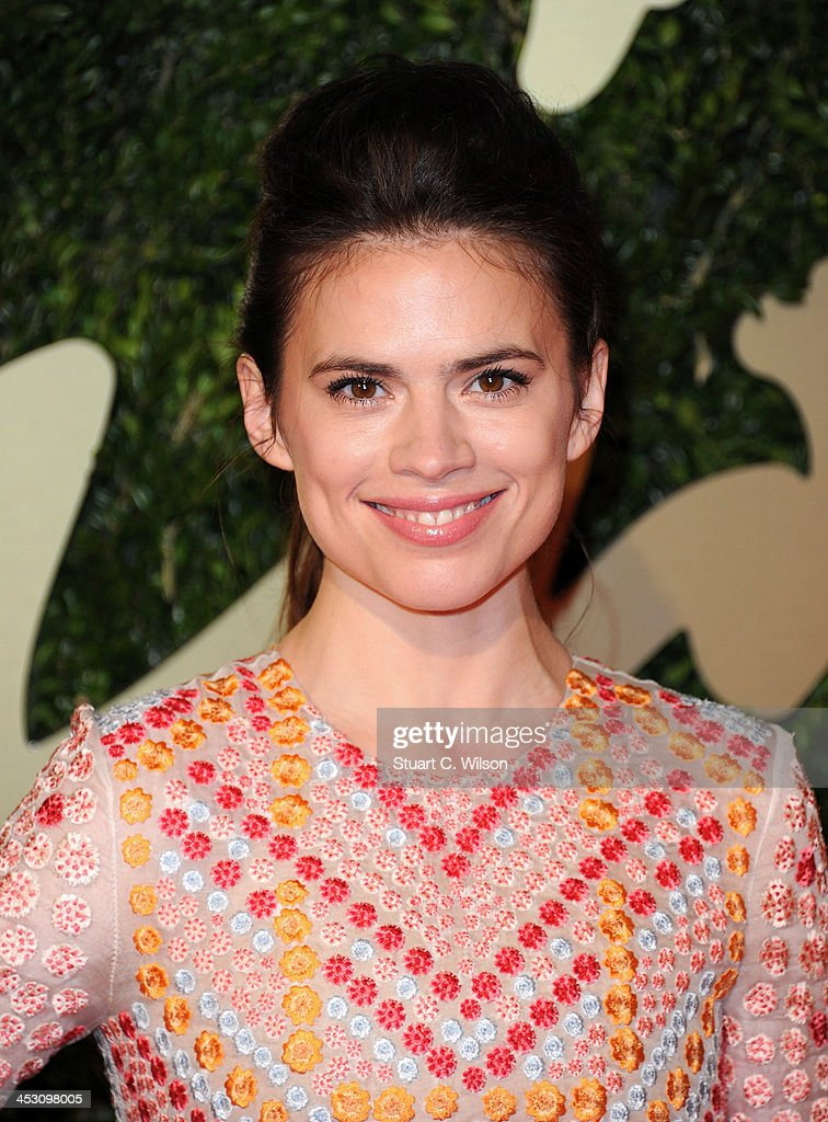 Hayley Atwell attends the British Fashion Awards 2013 at London Coliseum on December 2, 2013 in London, England.