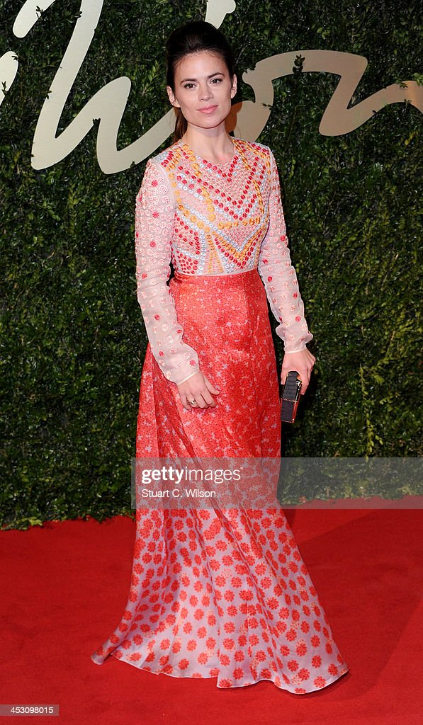 <a gi-track='captionPersonalityLinkClicked' href=/galleries/search?phrase=Hayley+Atwell&family=editorial&specificpeople=2331262 ng-click='$event.stopPropagation()'>Hayley Atwell</a> attends the British Fashion Awards 2013 at London Coliseum on December 2, 2013 in London, England.