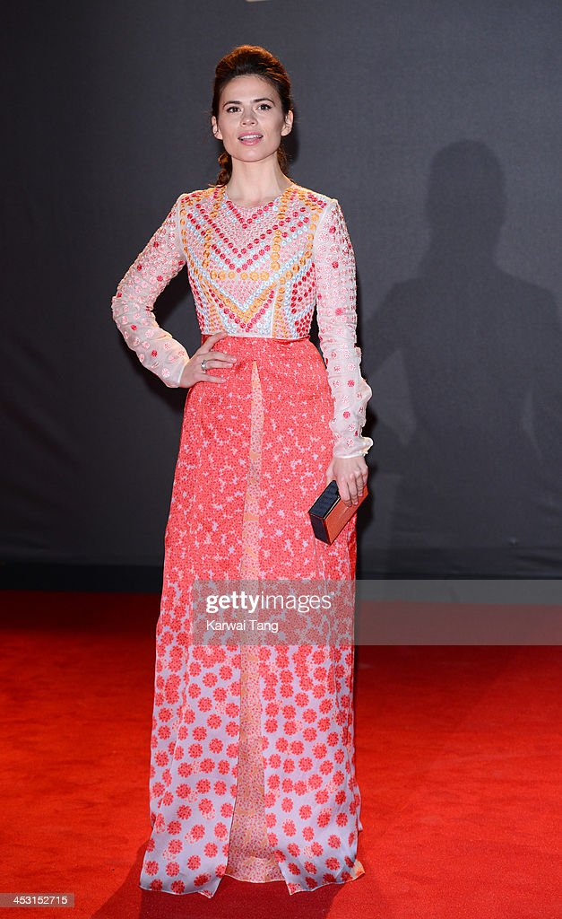 <a gi-track='captionPersonalityLinkClicked' href=/galleries/search?phrase=Hayley+Atwell&family=editorial&specificpeople=2331262 ng-click='$event.stopPropagation()'>Hayley Atwell</a> attends the British Fashion Awards 2013 held at the London Coliseum on December 2, 2013 in London, England.