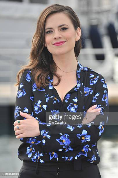 Hayley Atwell attends the Conviction photocall at Palais des Festivals on October 17 2016 in Cannes France