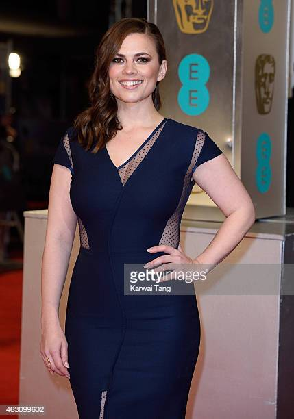 Hayley Atwell attends the EE British Academy Film Awards at The Royal Opera House on February 8 2015 in London England
