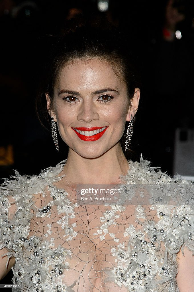 Hayley Atwell attends the Evening Standard Theatre Awards at The Savoy Hotel on November 17, 2013 in London, England.