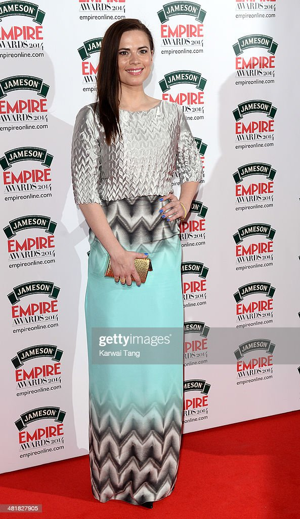 Hayley Atwell attends the Jameson Empire Film Awards at Grosvenor House on March 30, 2014 in London, England.