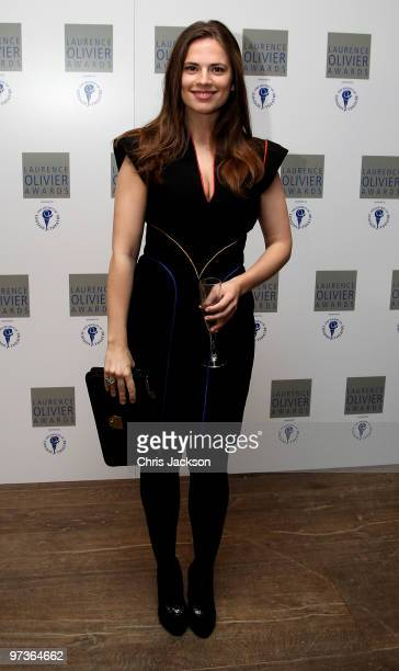 Hayley Atwell attends the Laurence Olivier Awards Nominee Luncheon Party at the Haymarket Hotel on March 2 2010 in London England