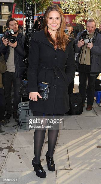 Hayley Atwell attends The Laurence Olivier Awards nominee's luncheon at Haymarket Hotel on March 2 2010 in London England