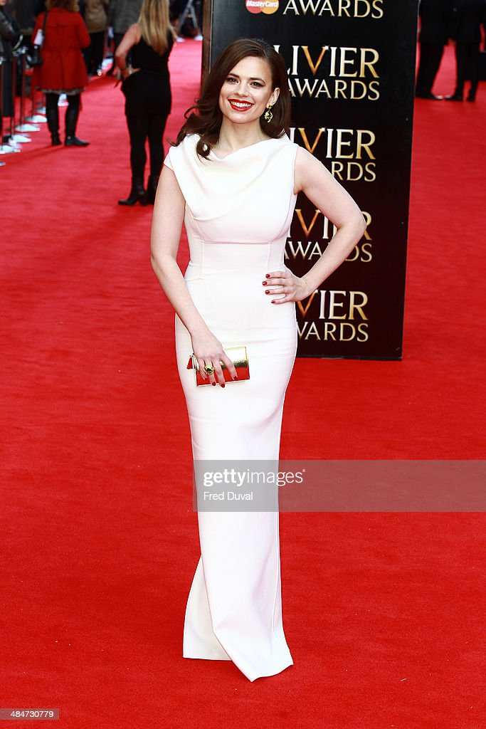 <a gi-track='captionPersonalityLinkClicked' href=/galleries/search?phrase=Hayley+Atwell&family=editorial&specificpeople=2331262 ng-click='$event.stopPropagation()'>Hayley Atwell</a> attends The Laurence Olivier Awards with MasterCard at The Royal Opera House on April 13, 2014 in London, England.