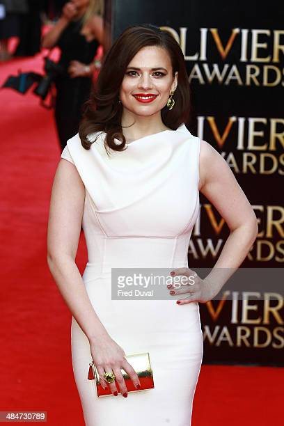 Hayley Atwell attends The Laurence Olivier Awards with MasterCard at The Royal Opera House on April 13 2014 in London England