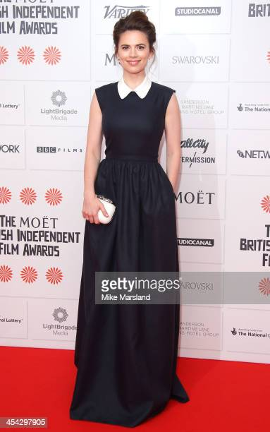 Hayley Atwell attends the Moet British Independent Film Awards at Old Billingsgate Market on December 8 2013 in London England