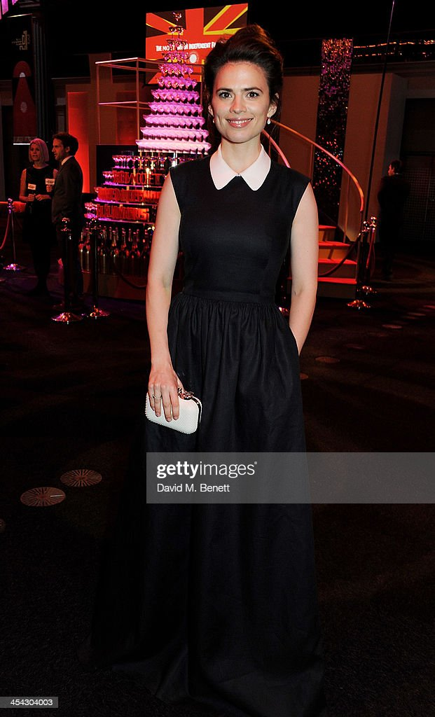 <a gi-track='captionPersonalityLinkClicked' href=/galleries/search?phrase=Hayley+Atwell&family=editorial&specificpeople=2331262 ng-click='$event.stopPropagation()'>Hayley Atwell</a> attends the Moet Reception at the Moet British Independent Film Awards 2013 at Old Billingsgate Market on December 8, 2013 in London, England.