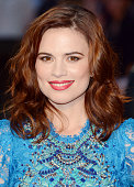 Hayley Atwell attends the premiere of The Sweeney at Vue Leicester Square