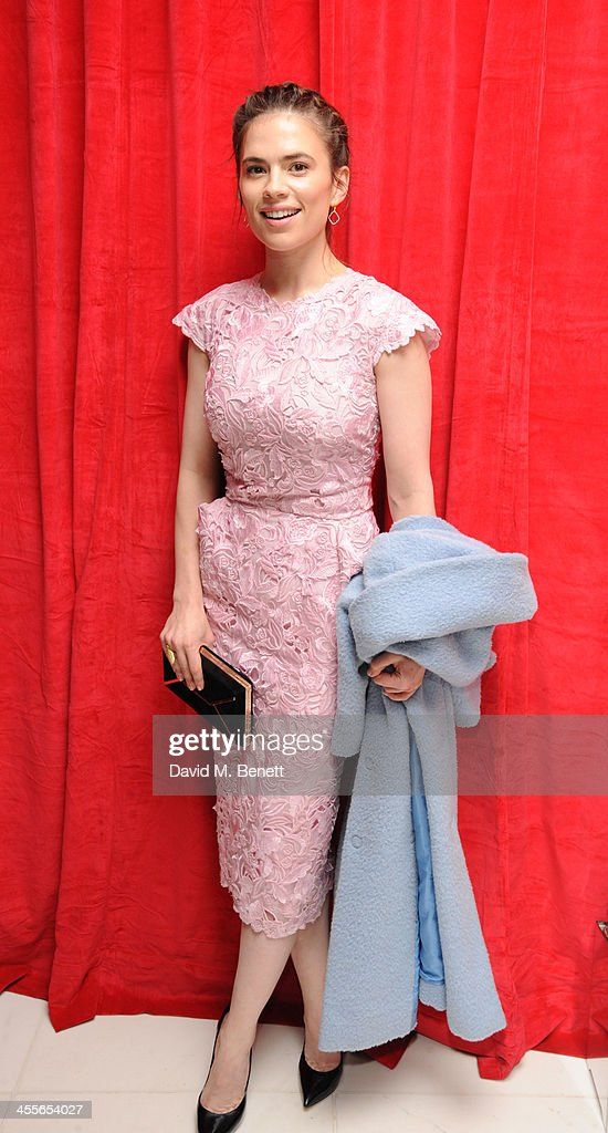 Hayley Atwell attends the pre-party for the English National Ballet's The Nutcracker at St Martin's Lane Hotel on December 12, 2013 in London, England.