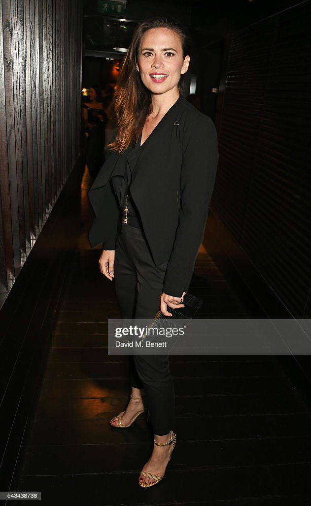 <a gi-track='captionPersonalityLinkClicked' href=/galleries/search?phrase=Hayley+Atwell&family=editorial&specificpeople=2331262 ng-click='$event.stopPropagation()'>Hayley Atwell</a> attends the press night after party for '1984' at The Mint Leaf on June 28, 2016 in London, England.