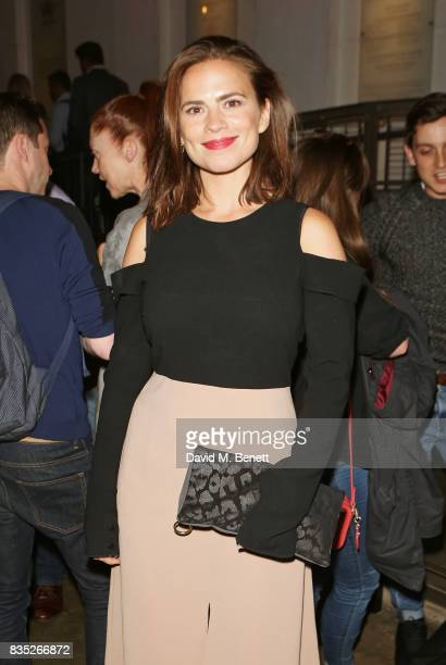 Hayley Atwell attends the press night after party for 'Against' at The Almeida Theatre on August 18 2017 in London England