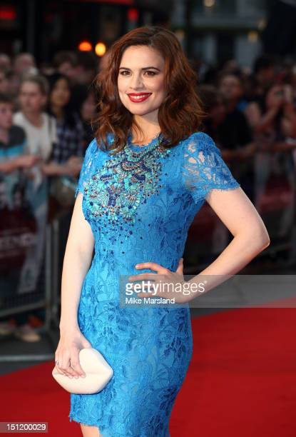 Hayley Atwell attends the UK Film Premiere of 'The Sweeney' at Vue Leicester Square on September 3 2012 in London England