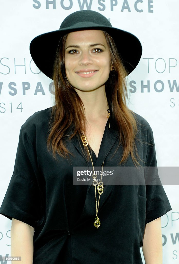 Hayley Atwell attends the Unique SS14 show during London Fashion Week on September 15, 2013 in London, England.