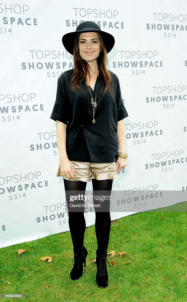 <a gi-track='captionPersonalityLinkClicked' href=/galleries/search?phrase=Hayley+Atwell&family=editorial&specificpeople=2331262 ng-click='$event.stopPropagation()'>Hayley Atwell</a> attends the Unique SS14 show during London Fashion Week on September 15, 2013 in London, England.