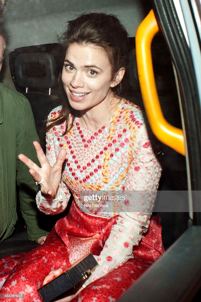 Hayley Atwell is sighted leaving the British Fashion Awards 2013 on December 2, 2013 in London, England.