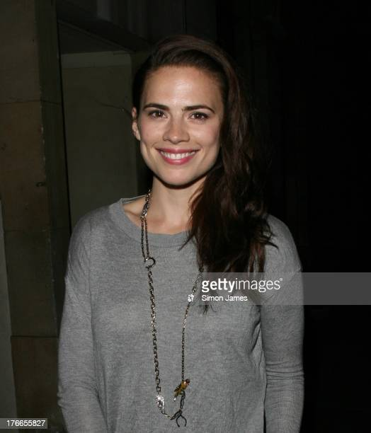 Hayley Atwell sighting on August 16 2013 in London England