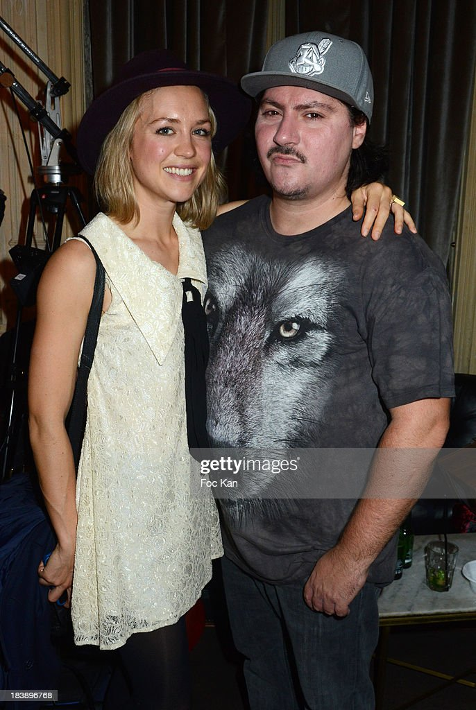 Hayley Edmonds and MTV Pulse presenter Gerard Baste attend the the Plastiscines private concert hosted by MTV Pulse at The Carmen Club on October 9, 2013 in Paris, France.