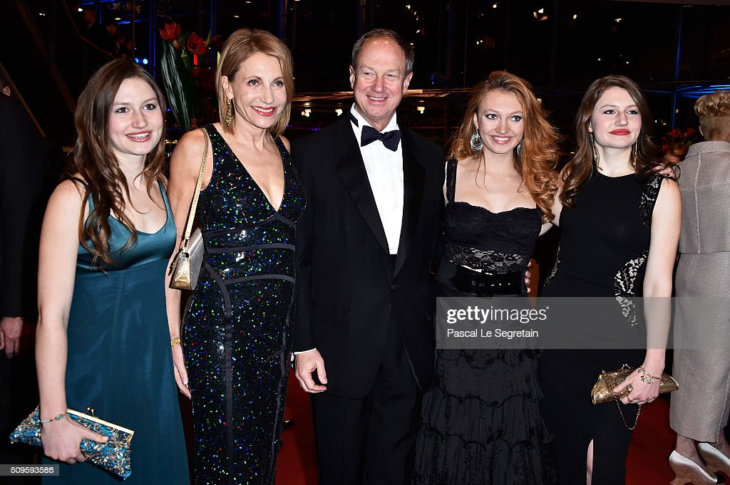 Hayley Emerson, Kimberly Marteau Emerson, US Ambassador to Germany John B. Emerson, <a gi-track='captionPersonalityLinkClicked' href=/galleries/search?phrase=Jacqueline+Emerson&family=editorial&specificpeople=8322902 ng-click='$event.stopPropagation()'>Jacqueline Emerson</a> and Taylor Emerson attend the 'Hail, Caesar!' premiere during the 66th Berlinale International Film Festival Berlin at Berlinale Palace on February 11, 2016 in Berlin, Germany.