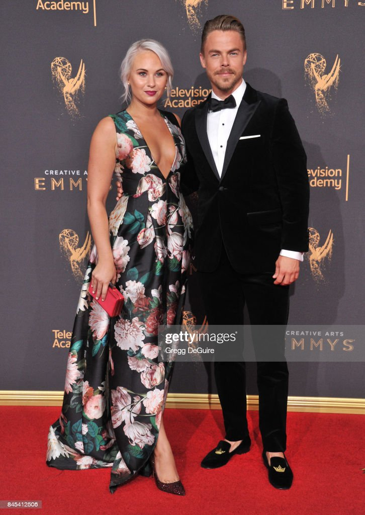 Hayley Erbert and Derek Hough arrive at the 2017 Creative Arts Emmy Awards - Day 1 at Microsoft Theater on September 9, 2017 in Los Angeles, California.