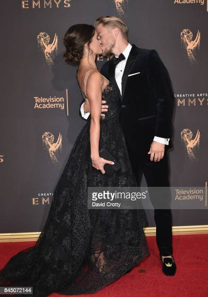Hayley Erbert and Derek Hough at the 2017 Creative Arts Emmy Awards Day 1 at Microsoft Theater on September 9 2017 in Los Angeles California