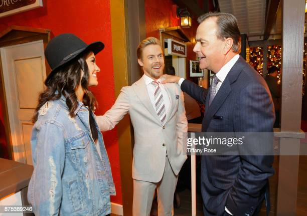 Hayley Erbert Derek Hough and Rick Caruso at Derek Hough Hosts The Americana at Brand Tree Lighting Presented By BMW on November 16 in Glendale...