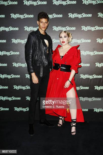 Hayley Hasselhoff and guest attend Rolling Stone Party during Milan Fashion Week Spring/Summer 2018 at on September 24 2017 in Milan Italy