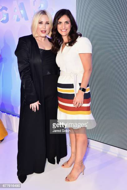 Hayley Hasselhoff and POPSUGAR Senior Content Director Rebecca Gruber attend POPSUGAR 2017 Digital NewFront at Industria Studios on May 3 2017 in New...