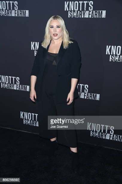 Hayley Hasselhoff arrives at Knott's Scary Farm and Instagram's Celebrity Night at Knott's Berry Farm on September 29 2017 in Buena Park California