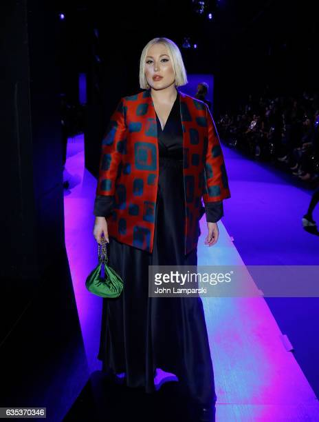 Hayley Hasselhoff attends The Blonds fashion show during February 2017 New York Fashion Week presented by MADE at Gallery 1 Skylight Clarkson Sq on...