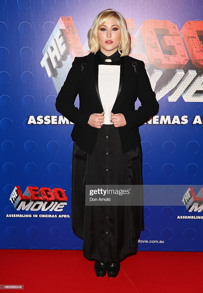 <a gi-track='captionPersonalityLinkClicked' href=/galleries/search?phrase=Hayley+Hasselhoff&family=editorial&specificpeople=2143973 ng-click='$event.stopPropagation()'>Hayley Hasselhoff</a> attends the Sydney premiere of The LEGO Movie at Event Cinemas on March 23, 2014 in Sydney, Australia.