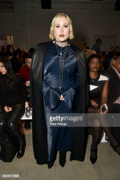 Hayley Hasselhoff attends the Vivienne Hu collection during New York Fashion Week The Shows at Gallery 2 Skylight Clarkson Sq on February 12 2017 in...