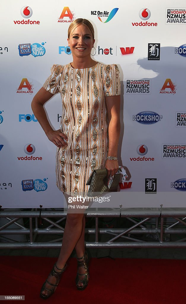 Hayley Holt arrives for the 2012 Vodafone New Zealand Music Awards at Vector Arena on November 1, 2012 in Auckland, New Zealand.