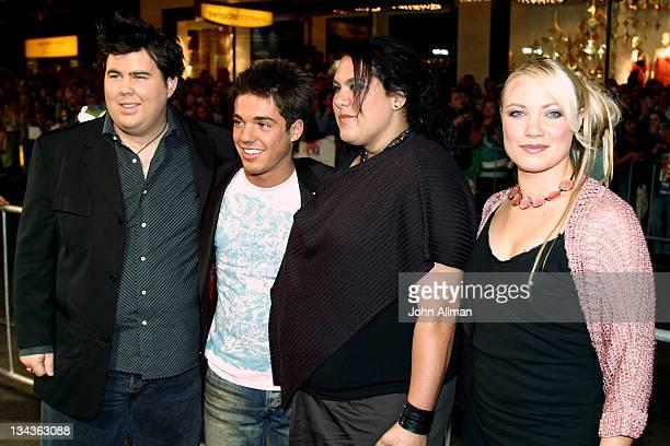 Hayley Jensen RickiLee Coulter Casey Donovan and Heyley Jensen of 'Australian Idol' contestants