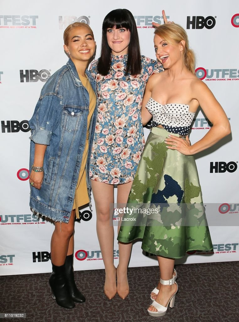 Hayley Kiyoko, Lena Hall and Mena Suvari attend the 2017 Outfest Los Angeles LGBT Film Festival - Centerpiece Screening Of 'Becks' on July 09, 2017 in Los Angeles, California.
