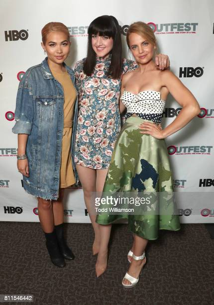 Hayley Kiyoko Lena Hall and Mena Suvari attend the 2017 Outfest Los Angeles LGBT Film Festival Centerpiece Screening Of 'Becks' at DGA Theater on...