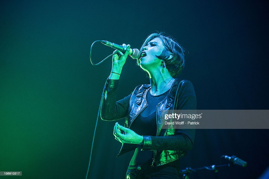 Hayley Mary from The Jezabels opens for Skunk Anansie at Le Zenith on November 24, 2012 in Paris, France.