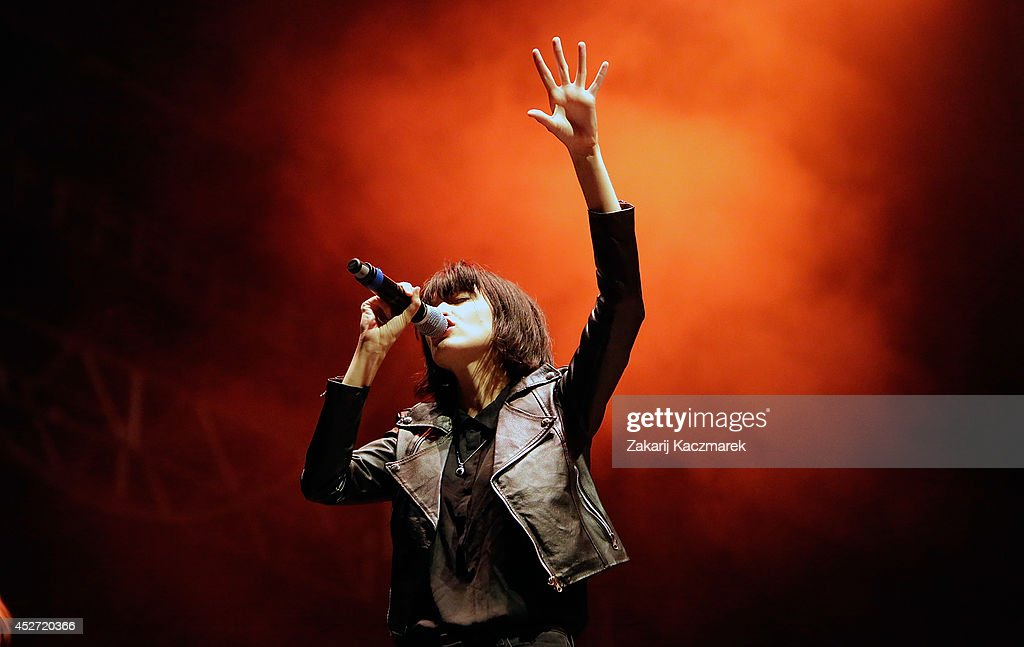 Hayley Mary of The Jezabels performs on stage at Splendour In the Grass 2014 on July 26, 2014 in Byron Bay, Australia.
