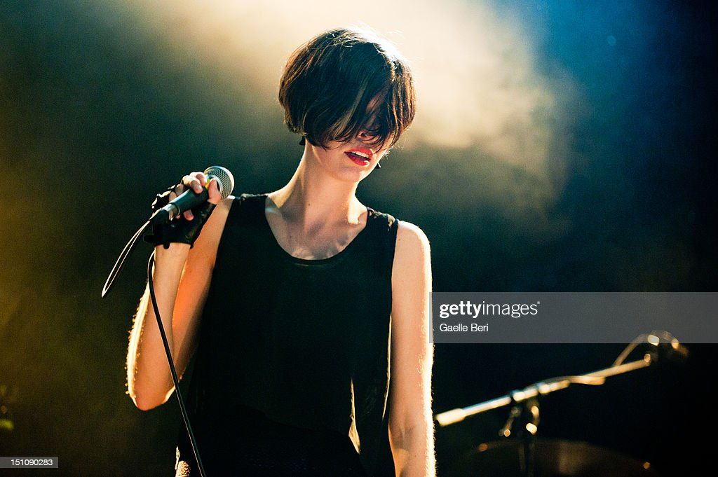 Hayley Mary of The Jezabels performs on stage during Electric Picnic on August 31, 2012 in Stradbally, Ireland.