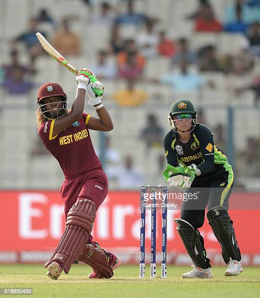 Hayley Matthews of the West Indies bats during the Women's ICC World Twenty20 India 2016 Final between Australia and the West Indies at Eden Gardens...