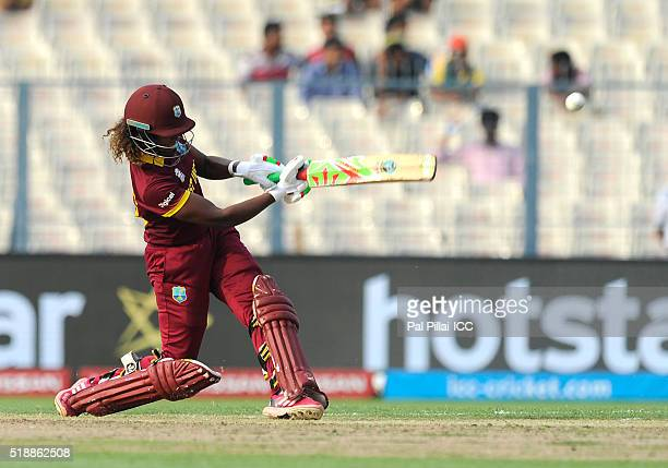 Hayley Matthews of the West Indies bats during Women's ICC World Twenty20 India 2016 Final match betweenAustralia and West Indies on April 03 2016 in...
