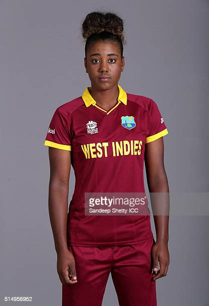 Hayley Matthews of the West Indies during the photocall of the West Indies team ahead of the Women's ICC World Twenty20 India 2016 on March 11 2016...