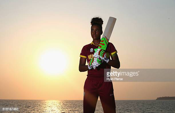 Hayley Matthews of the West Indies poses during a West Indies Portrait Session on March 30 2016 in Mumbai India